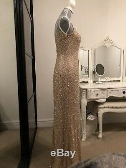 Pre-Owned Sherri Hill Full Length Beads Evening Dress. Fits A Size 6 Or 8