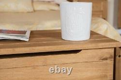 Premium Corona Solid Pine Bedroom Furniture with Metal Fittings & Rustic Finish