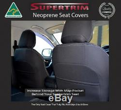 Premium neoprene FRONT seat covers Full-length + Pockets fit Holden Colorado RG