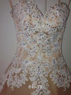 Prom Dress Corseted Full length to fit up to size 6 uk