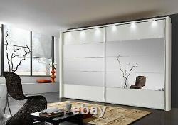 Quality German Mobel Sliding Wardrobe Bedroom White Mirror Oak Fitted Free New