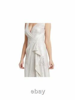 RALPH LAUREN Womens Pink Sleeveless Full-Length Fit + Flare Formal Dress 14