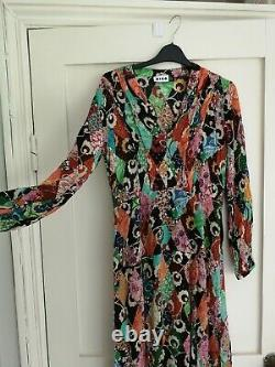 RIXO patchwork slit dress size XS but fits sz 8 to 10 used 4 times RRP £315