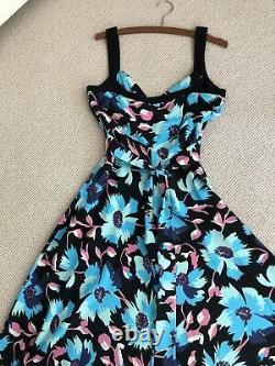 Rare Temperley London designer Strappy Empire Line Silk Maxi Dress Fit 10-12