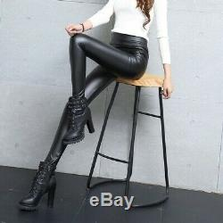 Real Leather Leggings Black Size 10 Will Fit Up to Size 12 New