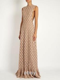 Ryan Roche beige cashmere crochet maxi dress RARE & SOLD OUT! Size fits UK6,8,10
