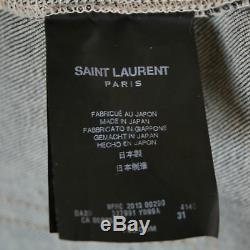 SAINT LAURENT Hedi Slimane dark blue slim skinny fit japanese denim jeans 31 NEW