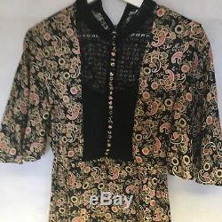 SANDRO FLORAL PRINT DRESS SIZE 8 U. K. Best Fit