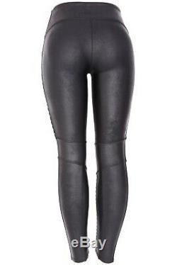 SPANX Faux Leather Moto Black Leggings 10501 Size Medium