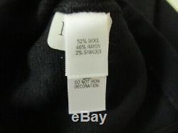 ST JOHN Black Caviar Side Zip Embellished Alexa Fit Pants NWT Sz 12 GG6549