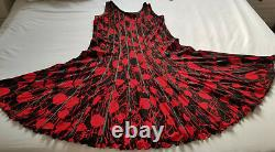 STRETCH 18/20 Dress & Jacket Fit & Flare Worn 5 hrs Black & Red CHESCA