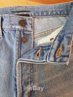 Saint Laurent Womens Jeans Paris SZ 26 High Waisted Button Fly Original Fit
