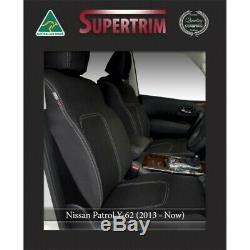 Seat Covers Fit Nissan Patrol Y62 FRONT Full-Length with Map Pockets & Rear