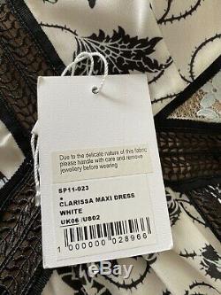 Self Portrait Clarissa White Printed Maxi Dress 6 fits UK size 8
