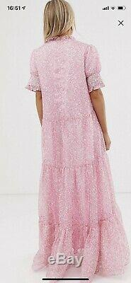 Sister Jane PINK Maxi Dress S in Ditzy Floral Fits 8/10. SOLD OUT EVERYWHERE