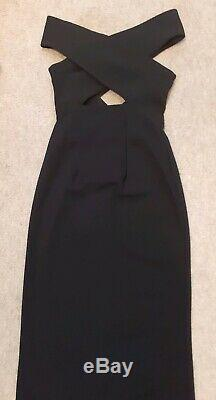 Solace London Cara Maxi Dress Black. Fit sz 6-8 uk. RRP £450- New with tag