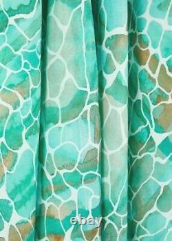 Sophia Alexia Aqua Pebbles Maxi Ruffle Wrap Dress, Luxury Women's Resort Wear