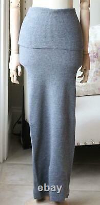 Stella Mccartney Ribbed Knit Wool Maxi Skirt It 36 Uk 4