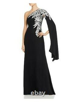 TADASHI SHOJI Womens Black Long Sleeve Full-Length Fit + Flare Formal Dress 14