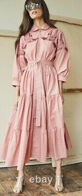 Tallulah and Hope summer maxi embroidered pink dress fits 8-12 (current season)