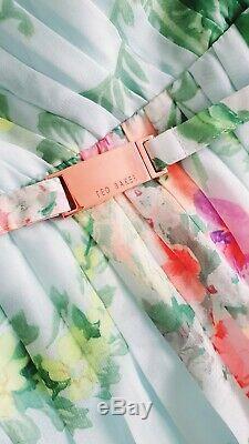 Ted Baker SERLANT Wallpaper print Maxi Dress size 4 UK 14, would fit 3 UK 12