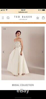 Ted baker Bridal Wedding Dress Full Length Size 4 (14) Would Fit Size 12