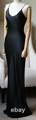 Theperfext Sarah Silk Satin Maxi Dress Xsmall