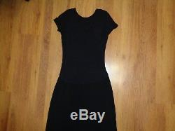 Transit Par Such Black Stretch Jersey Paneled Longline Slim Fit Column Maxi Dres