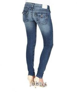 True Religion Disco Goddess Jeans Diamonte Detail Skinny Fit W26 Rrp £275