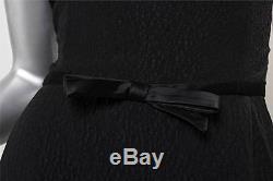 VALENTINO Womens Black Pebble Sleeveless Fitted Cross Back Full Length Dress 12