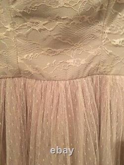 VALENTINO tulle and lace evening maxidress/ballgown fits size 8 BNWT light pink