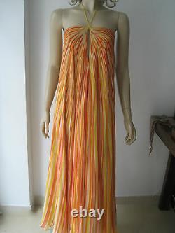 VINTAGE HALSTON 70's Silk Yellow Orange Maxi Dress S fits UK 8-10 £2,950