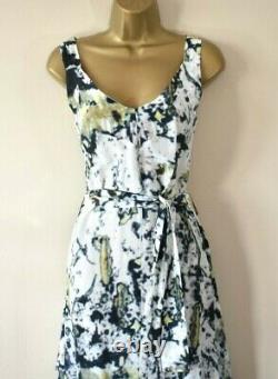 VIVIENNE WESTWOOD ZETA 40 Silk Blend Painterly Fit & Flare Party Maxi Dress