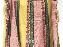 Vintage 70s Maxi Skirt CHESSA DAVIS Yellow Green Orange Boho Hippie Fits M RARE