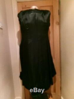 Vintage Black 100% Wool Full Length Princess Belted Fur Alexon Fit & Flare Coat