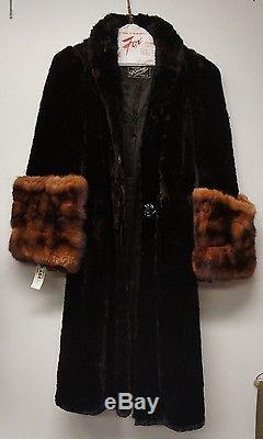 Vintage Full Length Beaver Mink Custom Jacket Ladies Evening Coat Fitted Fur