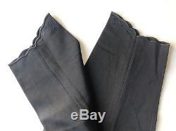 Vtg MATSUDA Nicole Fit High Waist Taxedo Tapered Leg Pants JAPAN Sz S 100% wool