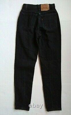 Vtg USA Levi's 512 Black 5 High Rise Slim Fit Tapered Leg 26Wx29.5L