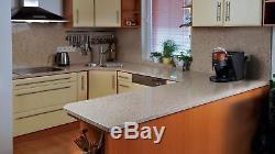 White Mirror marble & quartz kitchen Worktops, supply&fitting Full Length New