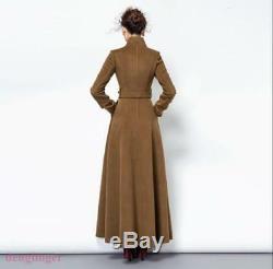 Womens Cashmere Full Length Vogue Coat Slim Fit Double Side Wool Winderbreaker