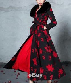 Womens Full-Length Winderbreaker 100% Cashmere Jacket Slim Fit Long Trench Coat