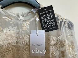 ZIMMERMAN Tropicale Antique lace-trimmed crinkled silk-chiffon dress SIZE 0 FIT