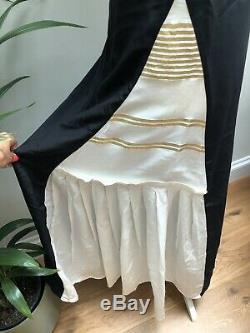 Zeus And Dione Black And Cream Silk Dress, Size 42 To Fit A UK12, Net A Porter