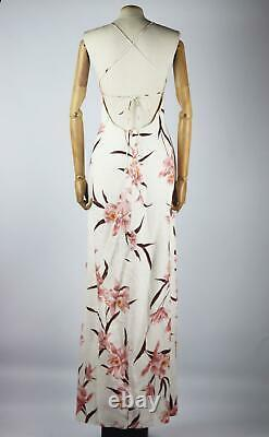 Zimmermann Corsage Floral Print Linen Maxi Dress Uk 14